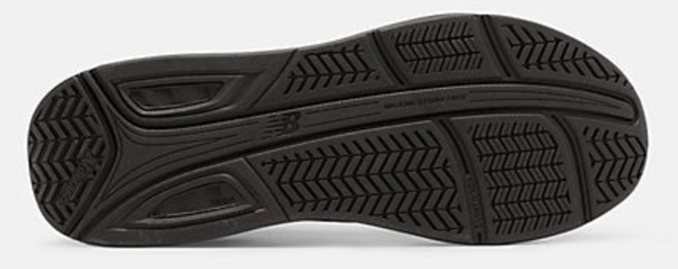 This is the sole profile of a very stable shoe designed for over-pronators.