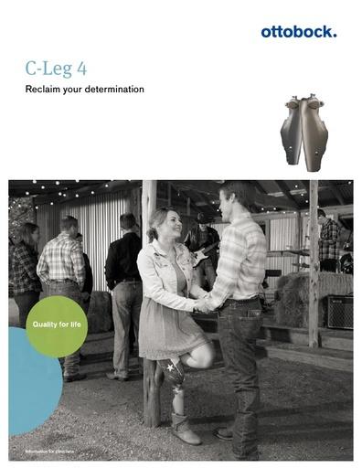 Ottobock CLeg4 Brochure General Info